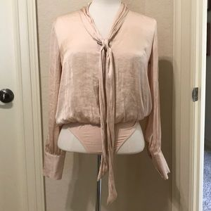 Forever 21 blush colored bodysuit